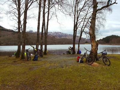 Mid ride rest beside the loch
